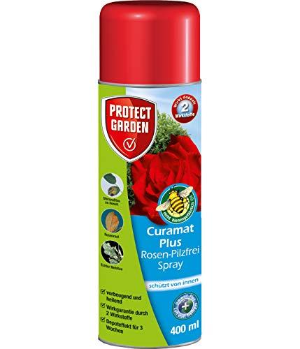 PROTECT GARDEN Curamat Plus Rosen-Pilzfrei Spray (ehem Bayer Garten Baymat), anwendungsfertiges Fungizid gegen Pilzkrankheiten an Rosen und Zierpflanzen, 400 ml
