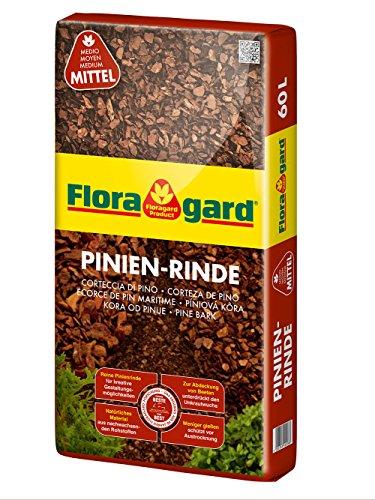 Floragard Mulch Pinienrinde 15-25 mm 60 L • mittel • dekorativer Bodenbelag • unterdrückt Unkrautwuchs • naturbelassen • für mediterranes Flair