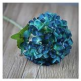 YSDSPTG Künstliche Blumen 1 stück künstliche Hortensie Blumen Zweig Seide gefälschte Hochzeit Tisch DIY Hause Garten Dekoration gefälschte Hortensie Flore Freizeit, Haus & Garten (Color : Deep Blue)